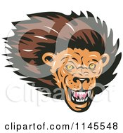 Clipart Of A Lion Head Royalty Free Vector Illustration