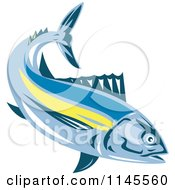 Clipart Of An Albacore Tuna Fish Royalty Free Vector Illustration by patrimonio