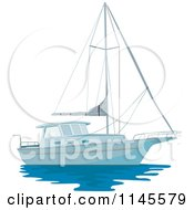 Clipart Of A Sailboat Royalty Free Vector Illustration by patrimonio