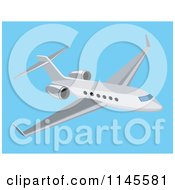 Commercial Airplane In A Blue Sky