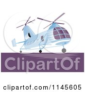 Clipart Of A Twin Engine Helicopter Royalty Free Vector Illustration