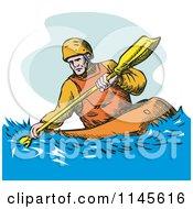 Kayaker Paddling 3
