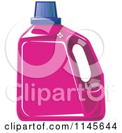 Clipart Of A Pink Liquid Laundry Detergent Bottle Royalty Free Vector Illustration by patrimonio