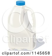 Clipart Of A White Milk Jug Royalty Free Vector Illustration