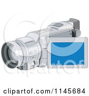 Clipart Of A Video Camera Royalty Free Vector Illustration
