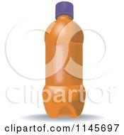 Clipart Of An Orange Soda Bottle Royalty Free Vector Illustration by patrimonio