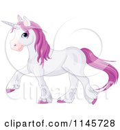 Pastel Purple Unicorn Walking