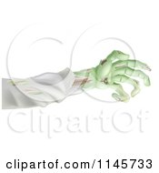 Clipart Of A Green Zombie Arm Royalty Free Vector Illustration