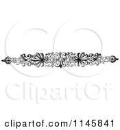 Clipart Of A Retro Vintage Black And White Ornate Page Border 1 Royalty Free Vector Illustration