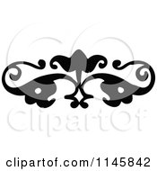 Clipart Of A Retro Vintage Black And White Ornate Page Border 2 Royalty Free Vector Illustration