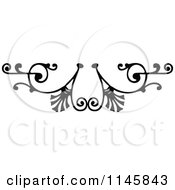 Clipart Of A Retro Vintage Black And White Ornate Page Border 3 Royalty Free Vector Illustration