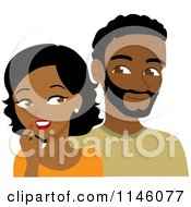 Clipart Of A Black Man And Woman Looking At Each Other Royalty Free CGI Illustration