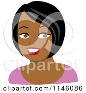 Beautiful Black Woman In A Pink Shirt