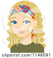 Clipart Of A Beautiful Blond Woman Wearing A Headband Royalty Free CGI Illustration