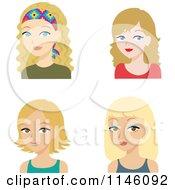 Four Beautiful Blond Women
