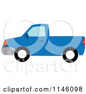 Clipart Of A Blue Pickup Truck Royalty Free CGI Illustration by Rosie Piter