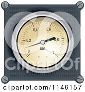 Clipart of a Dashboard Meter - Royalty Free Vector Illustration by Paulo Resende #COLLC1146157-0047