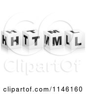 Clipart Of 3d Black And White Cubes Spelling HTML Royalty Free CGI Illustration by Andrei Marincas