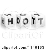 Clipart Of 3d Black And White Cubes Spelling HOT Royalty Free CGI Illustration by Andrei Marincas