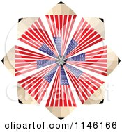 Clipart Of An American Flag Pencil Burst Royalty Free CGI Illustration