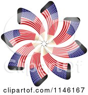 Clipart Of An American Flag Spiral Pencil Burst 2 Royalty Free CGI Illustration by Andrei Marincas
