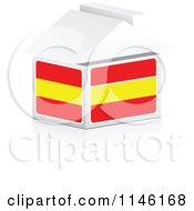 Clipart Of A 3d Spanish Flag House Royalty Free CGI Illustration