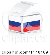 Clipart Of A 3d Russian Flag House Royalty Free CGI Illustration by Andrei Marincas