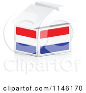 Clipart Of A 3d Netherlands Flag House Royalty Free CGI Illustration by Andrei Marincas