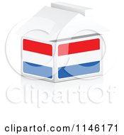 Clipart Of A 3d Luxembourg Flag House Royalty Free CGI Illustration by Andrei Marincas