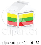 Clipart Of A 3d Lithuanian Flag House Royalty Free CGI Illustration