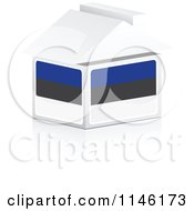 Clipart Of A 3d Estonian Flag House Royalty Free CGI Illustration