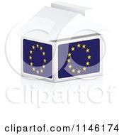 Clipart Of A 3d European Flag House Royalty Free CGI Illustration by Andrei Marincas