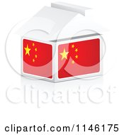 Clipart Of A 3d Chinese Flag House Royalty Free CGI Illustration by Andrei Marincas