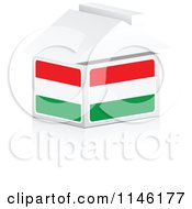 Clipart Of A 3d Hungarian Flag House Royalty Free CGI Illustration