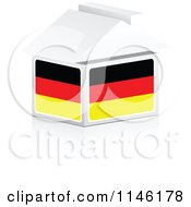 Clipart Of A 3d German Flag House Royalty Free CGI Illustration by Andrei Marincas