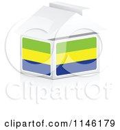 Clipart Of A 3d Gabon Flag House Royalty Free CGI Illustration by Andrei Marincas