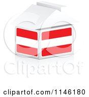 Clipart Of A 3d Austrian Flag House Royalty Free CGI Illustration
