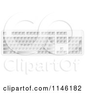 Clipart Of A Blank White 3d Computer Keyboard Royalty Free CGI Illustration by Andrei Marincas