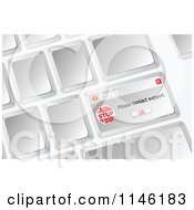 Clipart Of An Error Notice On A Keyboard Key Royalty Free CGI Illustration by Andrei Marincas