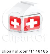 Clipart Of A 3d First Aid Hospital House Royalty Free CGI Illustration by Andrei Marincas