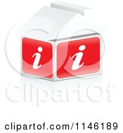 Clipart Of A 3d I Information House Royalty Free CGI Illustration by Andrei Marincas