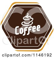 Clipart Of A Brown Coffee Logo 1 Royalty Free Vector Illustration by elena