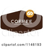 Clipart Of A Brown Coffee Logo 2 Royalty Free Vector Illustration by elena