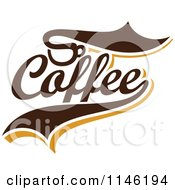 Clipart Of A Brown Coffee Logo 3 Royalty Free Vector Illustration