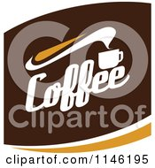Clipart Of A Brown Coffee Logo 4 Royalty Free Vector Illustration by elena
