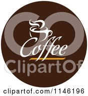 Clipart Of A Brown Coffee Logo 5 Royalty Free Vector Illustration by elena