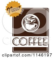 Clipart Of A Brown Coffee Logo 6 Royalty Free Vector Illustration by elena