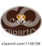 Clipart Of A Brown Coffee Logo 7 Royalty Free Vector Illustration by elena