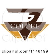 Clipart Of A Brown Coffee Logo 8 Royalty Free Vector Illustration by elena