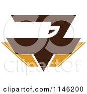 Clipart Of A Brown Coffee Logo 9 Royalty Free Vector Illustration by elena